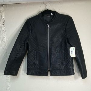 Canyon River Blues Quilted Pattern Moto Jacket